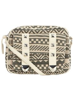 Grey aztec print crossbody - Accessories - View All Sale - Sale & Offers