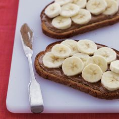 Banana and Almond Butter Toast - How to Burn Calories at Breakfast - Health Mobile