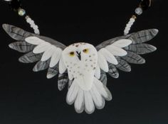 $59 Owl necklace and earrings -bird jewelry by dawn