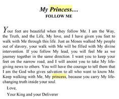 Follow me.... My princess