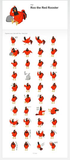 Get Red Roo on this year of fire rooster. Happy chinese new year! http://line.me/S/sticker/1374856
