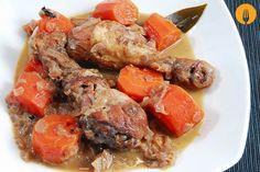Pollo en salsa fácil. Receta tradicional y Vídeo