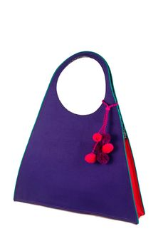 Purple Pink Triangle Bag / Rs.1650