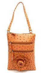 Ostrich Cross-Body Bag