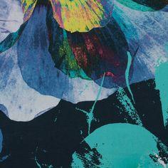Abstract Print Polyester Chiffon Dress Fabric EM-1008-BlackRed-M