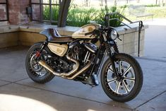 Go go go! Awesome Harley Davidson 883 Iron Cafe Racer by Chris Owens #caferacer #motorcycles #motos | caferacerpasion.com