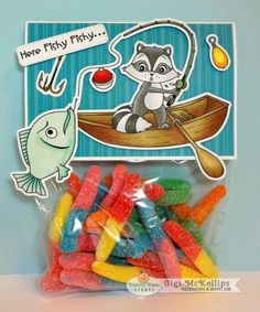PKS May Release - I love fishing ideas and this one sure works with the gummy worms!