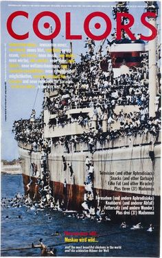 "cMag042 - Colors Magazine cover ""Inmigration Issue"" / Tibor Kalman / Nº 2 / January 1992"