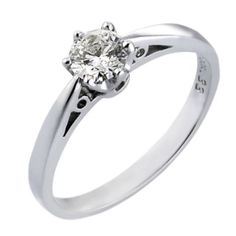 10k White Gold 3/4 Carat Diamond Ring Size 7 Wedding Ring Jewelry & Watches