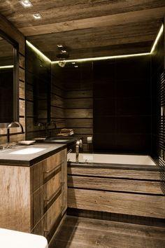 Bathroom in wood