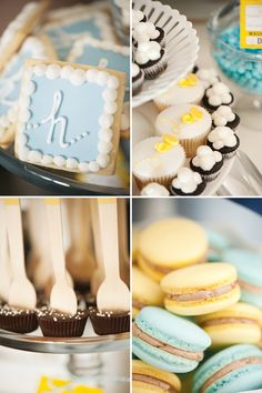 Harrys {Super Stylish!} Vintage Airplane Party - chocolate peanut butter cups on a spoon