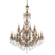 Check out the Crystorama 5147-AG Yorkshire 24 Light Two Tier Crystal Chandelier in Aged Brass priced at $13,990.00 at Homeclick.com.