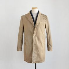 Chester Coat in Calvary Twill Khaki from Engineered Garments. Made in USA.
