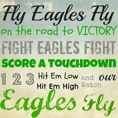"""Philadelphia Eagles fight song! E a g l e s. Would be nice to hang in Billy's """"Eagles's Nest"""" man cave."""