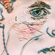 Portrait/embroidery on Behance