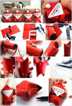Paper Rolls Santa