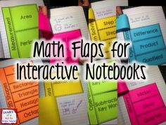 Math flaps for interactive notebooks! They cover lots of skills and include editable flaps!