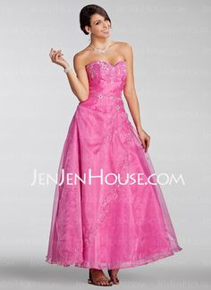 Quinceanera Dresses - $182.99 - A-Line/Princess Sweetheart Ankle-Length Organza Charmeuse Quinceanera Dress With Ruffle Beading (021005230) http://jenjenhouse.com/A-Line-Princess-Sweetheart-Ankle-Length-Organza-Charmeuse-Quinceanera-Dress-With-Ruffle-Beading-021005230-g5230