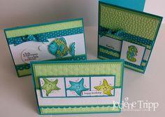 Fishy Friends card set by Jodene Tripp