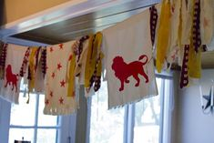 An aslan banner for narnia birthday party