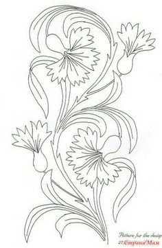 Craftziners Magazine – Volume 2 Issue 1 – # – broderie à la main Flower Line Drawings, Outline Drawings, Art Drawings, Floral Embroidery Patterns, Crewel Embroidery, Embroidery Designs, Coloring Books, Coloring Pages, Leaf Coloring
