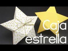 Tutorial caja de cartulina con forma de estrella