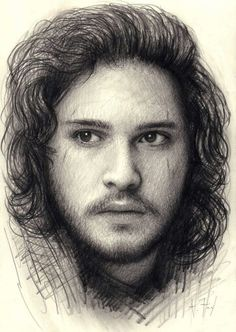 Jon Snow-I don't pin artwork very often cuz there's too much of it out there but this is AWESOME!!