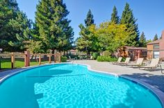 Gorgeous swimming pool at at Bennington Apartments in Fairfield, CA