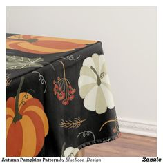 Autumn Pumpkins Pattern Tablecloth Cloth Napkins, The Perfect Touch, Fall Pumpkins, Thanksgiving Decorations, Table Runners, Keep It Cleaner, Color Pop, Throw Pillows, Autumn