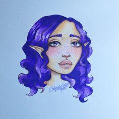 Original artwork done with markers #elf #elves #purple #markerdrawing #chameleonpens