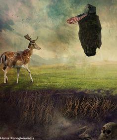 Haris Karagkounidis: Photoshop Manipulation Photography-America First
