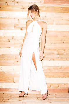 Palms Gown - White