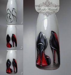 """@alex_maximenko_nails  .  МК""""Лабутены"""" из серии """"Temptation"""") Понравилось - ставь , хочешь еще МК - подписывайся, чтобы увидеть больше) По вопросам записи и обучения обращаться в Direct или по телефону 0960760642) #alex_maximenko_nail #alex_maximenko #instaphoto #photo #nails #gel #new #flowers #design #manicure #color #fashion #tutorial #flawless #gelpolish #watercolor #цветы #мастеркласс #идеиманикюра #маникюр #мк #росписьногтей #пошагово #дизайнногтей #рисунок  #дизайн #гельлак #..."""