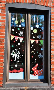Yahoo Recherche d'images Christmas And New Year, Winter Christmas, Christmas Time, Christmas Window Decorations, Holiday Decor, Window Art, Christmas Crafts, Handmade, Place