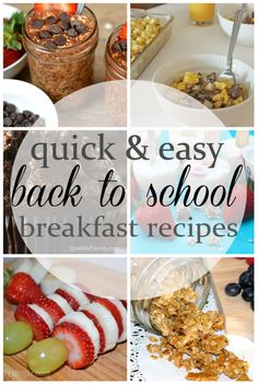 Quick and easy back to school breakfast recipes can all be made ahead so you can have more time to get your kids ready for school instead of making breakfast.