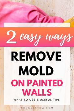 Mold on the painted wall threatens the health of your family living in the home and ruins the appearance of the wall. To restore the beauty of the wall and create a healthy home, knowing how to remove mold from painted walls is essential. Removing the mold can be an easy task if you follow some steps correctly. #DIY #cleaning #homehacks#diytips Deep Cleaning Checklist, Household Cleaning Tips, Deep Cleaning Tips, Natural Cleaning Products, Mattress Cleaning, Cleaning Walls, Remove Mold, How To Remove, Cleaning Appliances