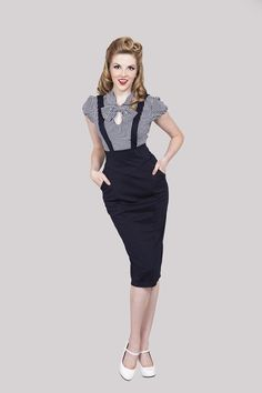 1940s Navy Suspender skirt