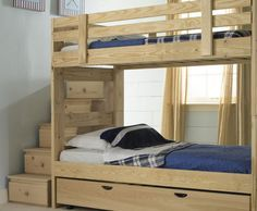 Coolest Bunk Bed Ever Stairs Are Drawers And Has A 3rd Trundle Model 1 Stackable With