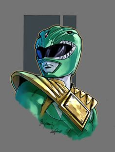 Mighty Morphin Power Rangers green color by le0arts.deviantart.com on @DeviantArt
