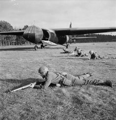 Troops exiting horsa glider on D Day