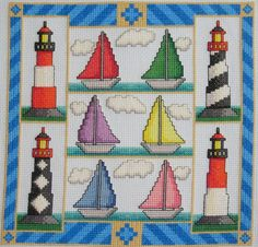 $9.49 Sail Away An Original Cross Stitch Pattern FREE SHIPPING