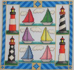 $9.49 Sail Away An Original Cross Stitch Pattern FREE SHIPPING