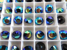 6 Jet AB Swarovski Crystal Chaton  Stone 1088 39ss by BeadwareIL-$3.75,12-$7.45