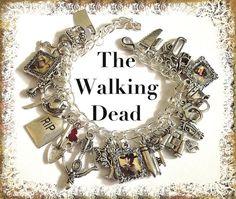 zombie survival charm bracelet for sale   WALKING DEAD Jewelry Zombie Jewelry Walking by princessofscraps, $36 ...