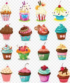 Cupcake Logo, Cupcake Art, Cute Cupcake Drawing, Ice Cream Cone Drawing, Birthday Cake Icing, Cartoon Cupcakes, Decoupage, Sweet Drawings, Cupcake Pictures
