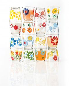 sour cream glasses - inspired by 1920's concept of selling food in keepsake glassware via martha stewart