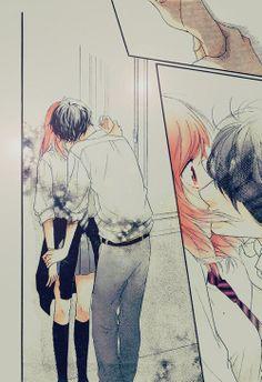 ao haru ride, manga, and kiss resmi Couple Manga, Anime Love Couple, Cute Anime Couples, Manga Anime, Anime Kiss, Ao Haru Ride Anime, Tanaka Kou, Futaba Y Kou, Photo Manga