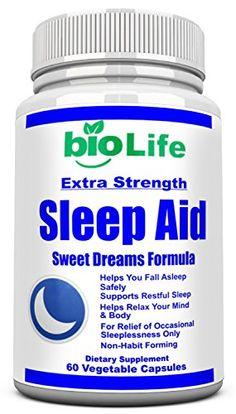 Natural Sleep Aid - Herbal, Non-Habit Forming Sleeping Pill. Supports Mood, Stress