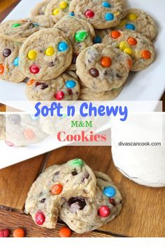 Homemade M & M Cookies