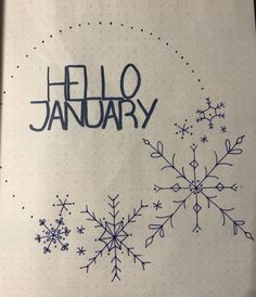 Hello January Bullet Journal Winter Blue